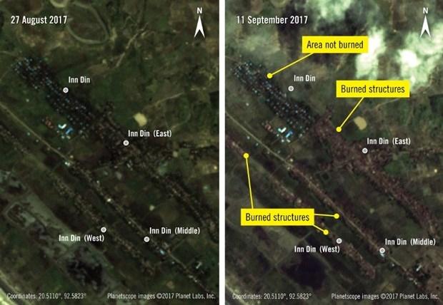 Arakan'da sistematik kundaklamalar uyduyla görüntülendi 1