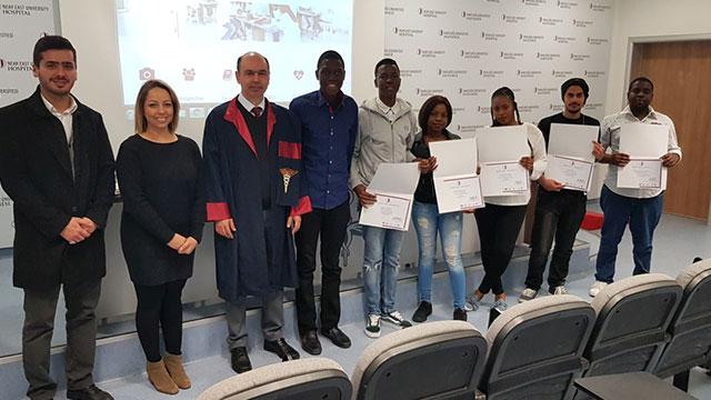 """YDÜ'de """"Üniversite Hazırlık Programını"""" başarıyla tamamlayan öğrenciler sertifikalarını aldılar…"""