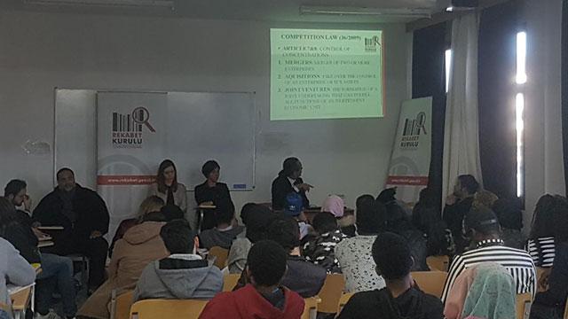 YDÜ İktisadi ve İdari Bilimler Fakültesi Ekonomi Bölümü, KKTC Rekabet Kurulunu ağırladı