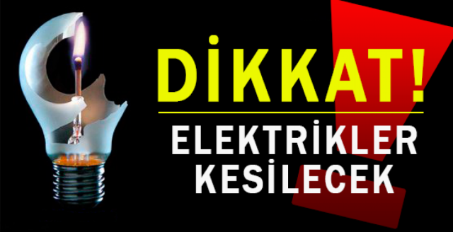Gülseren'de elektrik kesintisi yapılacak