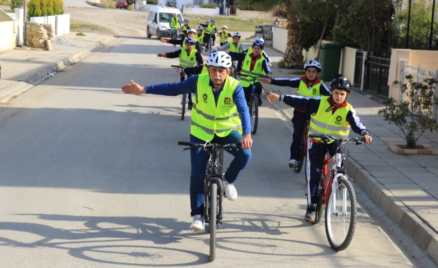 Gönyeli'de bisikletlerle Güvenli Sürüş zamanı