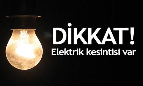 Pazar yapılacak elektrik kesintisinin saatleri değişti: kesinti 02.00-09.00 saatleri arasında…