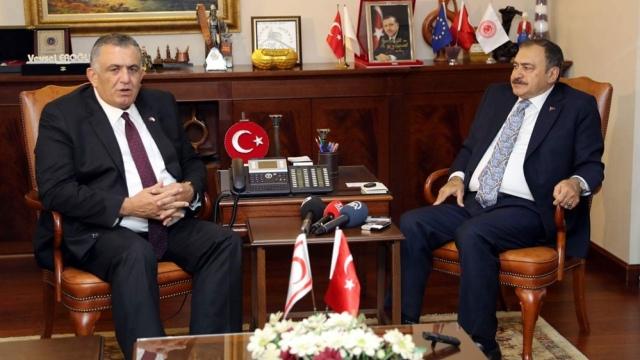 """Çavuşoğlu, Ankara'da Eroğlu ile görüştü... """"Tünel projesi ile sulama hatları eş zamanlı bitirilecek"""""""