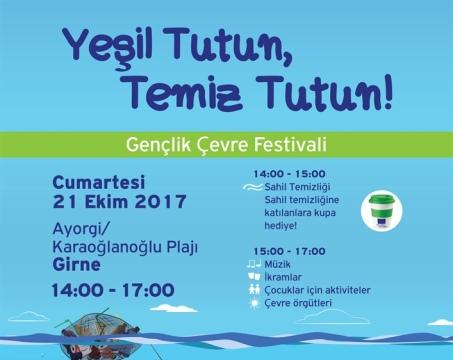 Girne'de Cumartesi günü Gençlik Çevre Festivali düzenleniyor