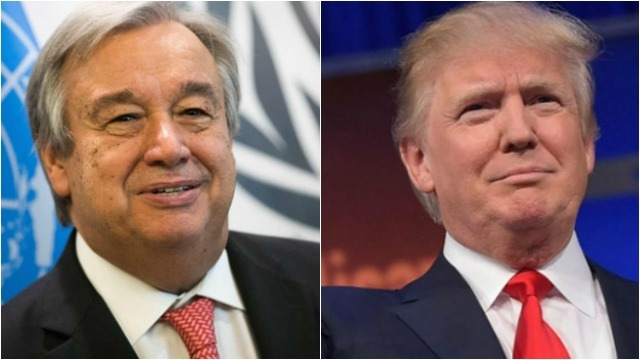 BM Genel Sekreteri Guterres, Trump ile görüşecek