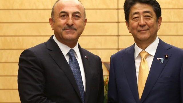 Çavuşoğlu Japonya Başbakanı Abe ile görüştü