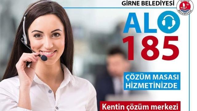 """Girne Belediyesi """"Alo 185 Çözüm Masası"""" 7/24 hizmete başladı"""