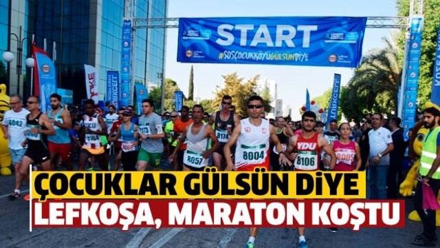 Lefkoşa maratonu koşuldu