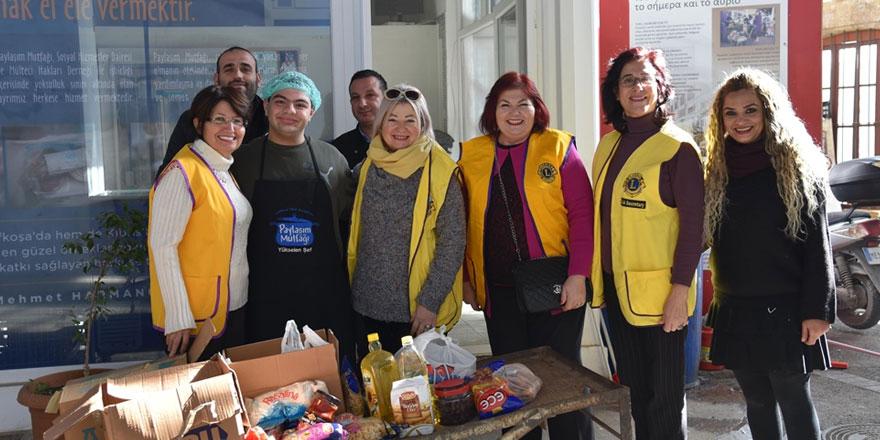Lefkoşa Başkent Lions Kulübü Paylaşım Mutfağı'na bağışta bulundu