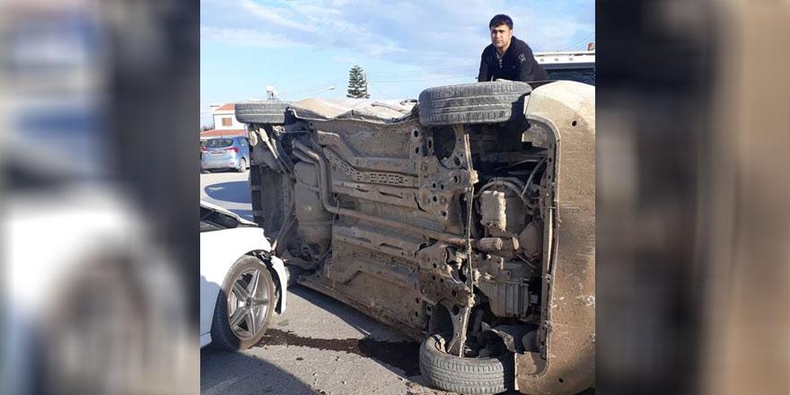Çatalköy'de korkutan kaza!