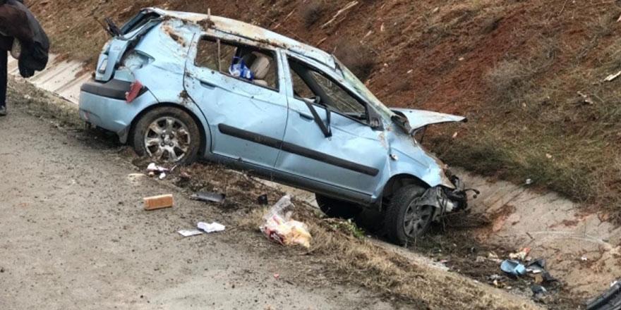 Kıbrıs gazisi trafik kazasında ölümden döndü