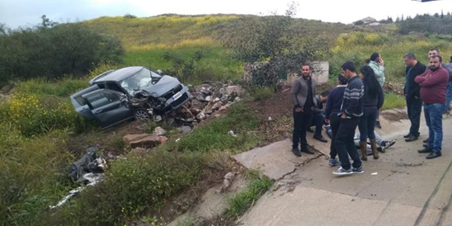 Lefkoşa Girne Anayolu'nda kaza