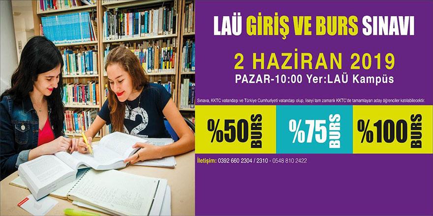 LAÜ Giriş ve Burs Sınavı 2 Haziran'da yapılacak