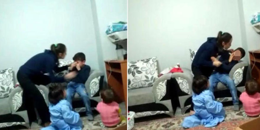 Bakıcı artık dayanamadı o görüntüleri kaydetti... Üvey anne dehşeti!