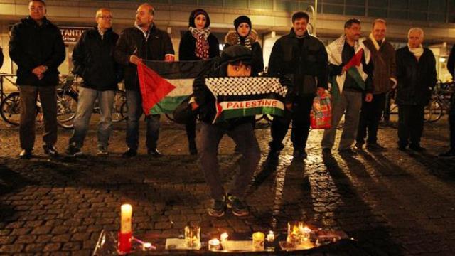 """Berlin'de """"İsrail"""" Protestosu"""