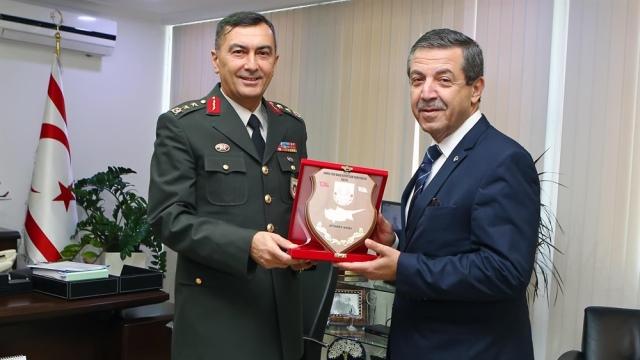 KTBK Komutanı Tümgeneral Yıldırım, Dışişleri Bakanı Ertuğruloğlu'nu ziyaret etti