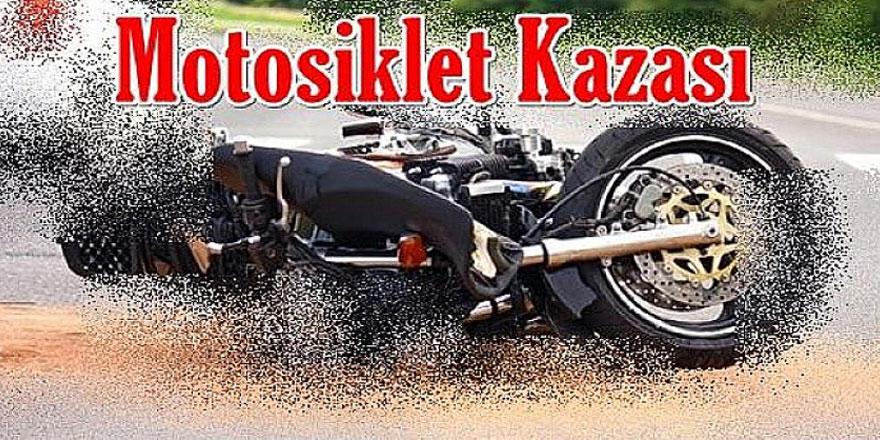 Girne'de bir motosiklet devrildi, sürücü yoğun bakımda