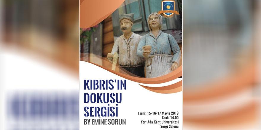 """Emine Sorun'un """"Kıbrıs'ın Dokusu"""" sergisi yarın açılıyor"""