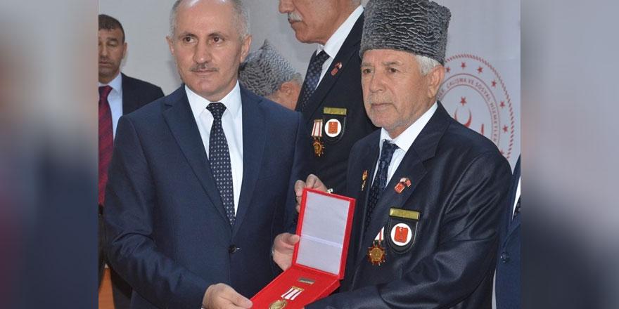 Karaman'da Kıbrıs gazilerine madalya ve berat tevcih töreni