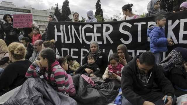 Yunanistan'da sığınmacılar açlık grevinde