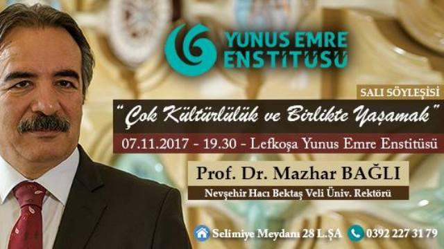 """""""Çok kültürlülük ve birlikte yaşamak"""" başlıklı Konferans bu akşam Lefkoşa Yunus Emre Enstitüsü'nde.."""