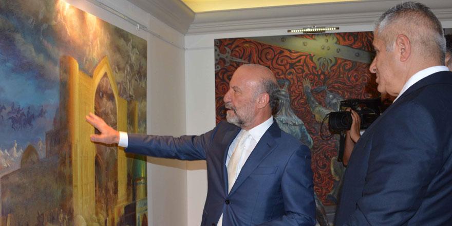 Kişisel Resim Sergisi Ekonomi ve Enerji Bakanı Hasan Taçoy Tarafından Açıldı…