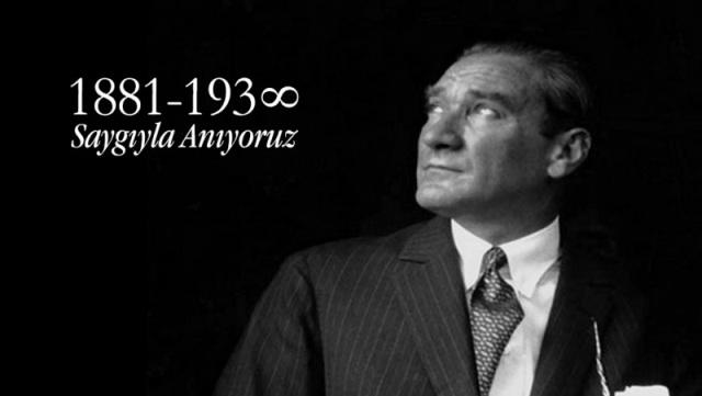 Ulu Önder Mustafa Kemal Atatürk, yarın düzenlenecek törenlerle anılacak
