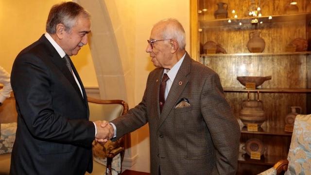 Cumhurbaşkanı Akıncı, Genelkurmay Eski Başkanı İsmail Hakkı Karadayı'yı kabul etti