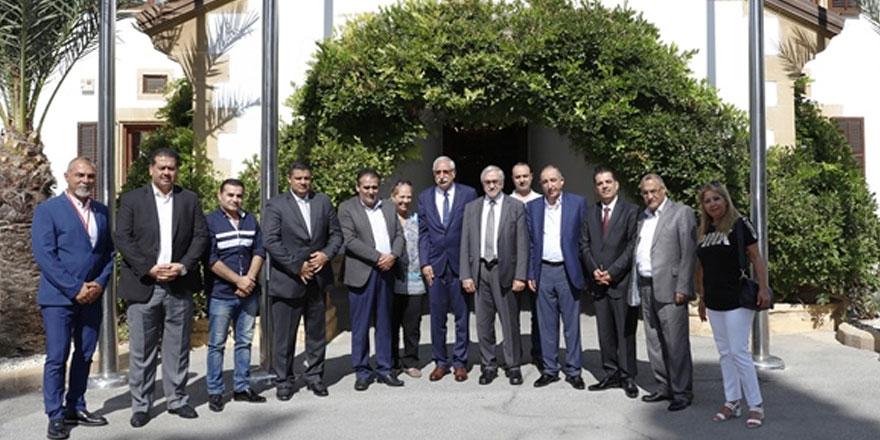 Cumhurbaşkanı Akıncı, Girne ve Ürdünlü Belediye başkanlarını kabul etti