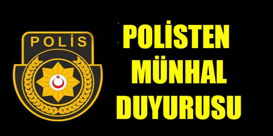 100 polis memuru için münhal açtı.