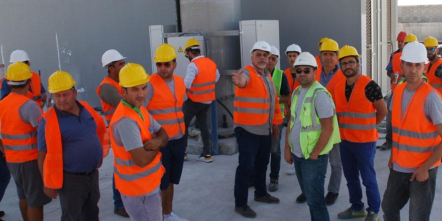 DAÜ BTYO öğrencileri yeni ercan havalimanı şantiyesine teknik ziyaret gerçekleştirdi