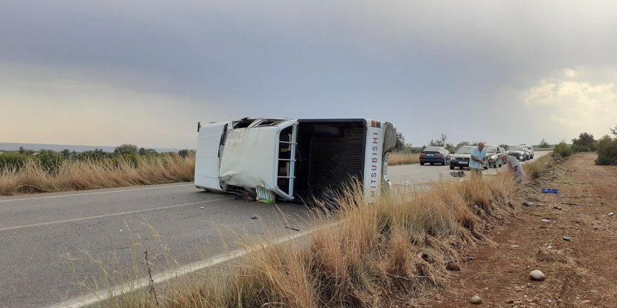 İki ayrı trafik kazasında üç kişi yaralandı