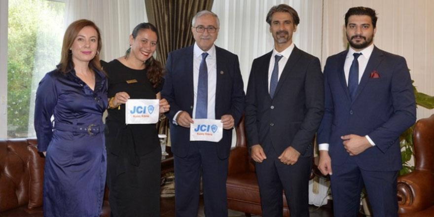 Akıncı,JCI  Kuzey Kıbrıs Başkanı İpek Denizli Karagöz'ü kabul etti