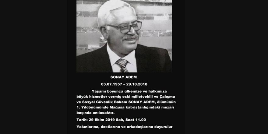 Eski Milletvekili ve Bakan Sonay Adem ölümünün birinci yıldönümünde anılacak