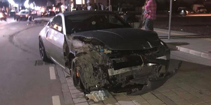 Yenikent'te korkutan kaza