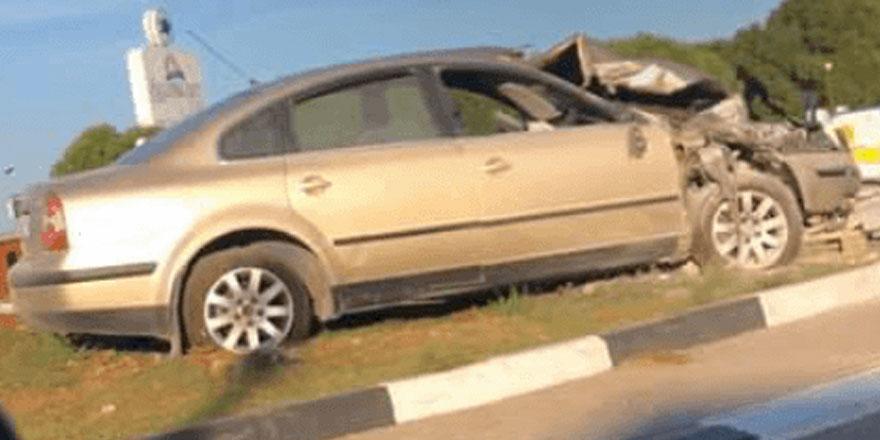 Gazimağusa'da korkutan kaza