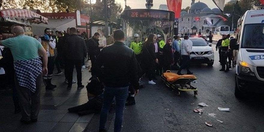 Beşiktaş'taki halk otobüsü kazasında yeni görüntü