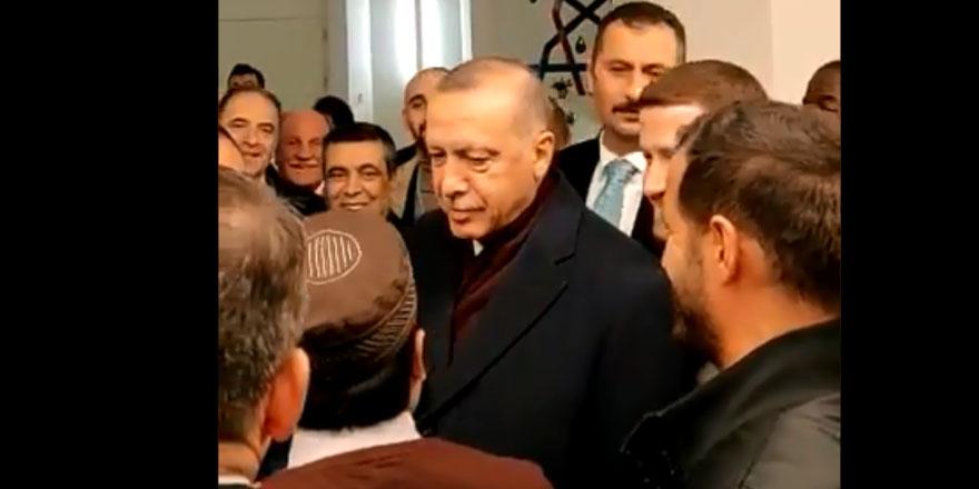 ABD'de bir Müslüman, cami ziyaretindeki Erdoğan'a seslendi: I love you man