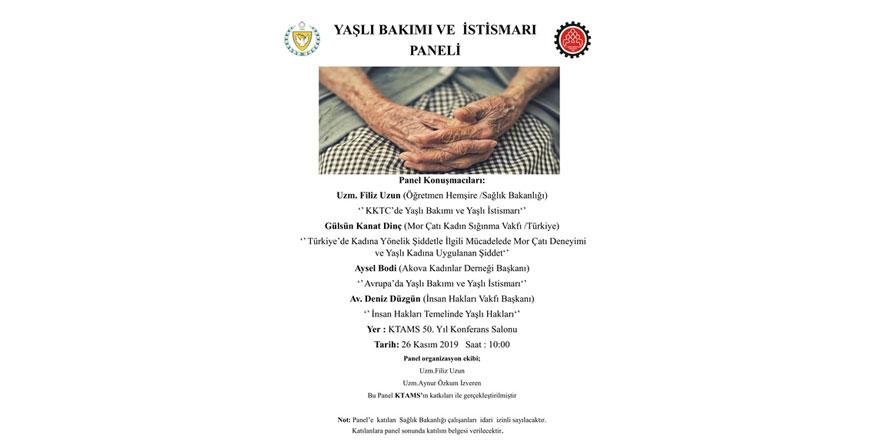 Yaşlı Bakımı ve Yaşlı İstismarı Paneli yarın...