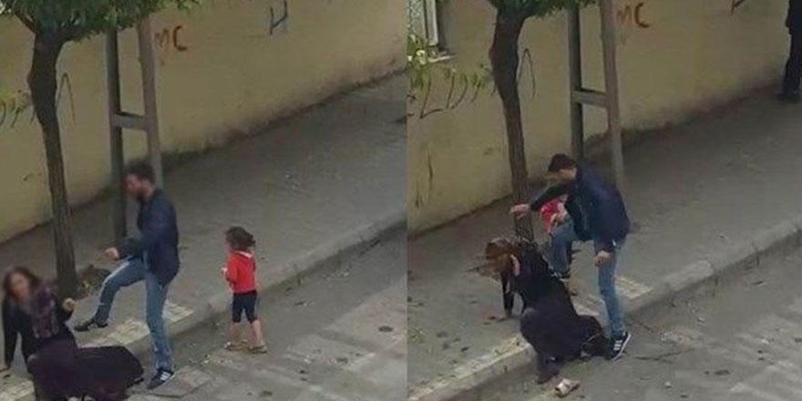 Eşini sokak ortasında darp eden koca: İlk kez vurdum