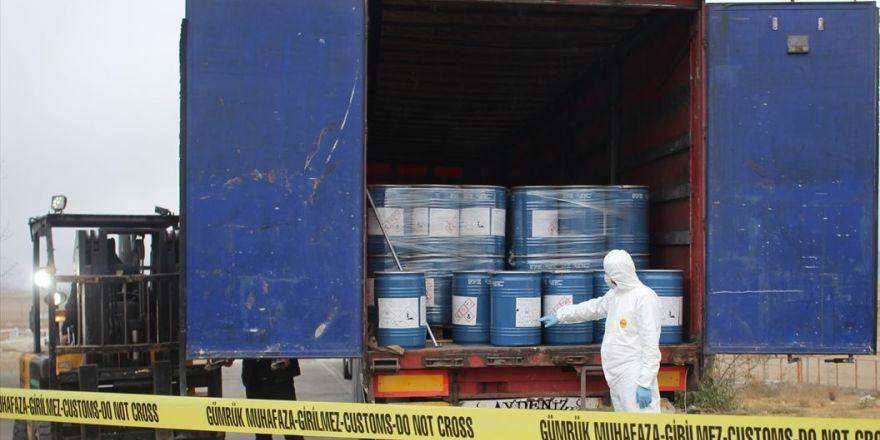 Gürbulak'ta 18.4 ton sodyum siyanür ele geçirildi