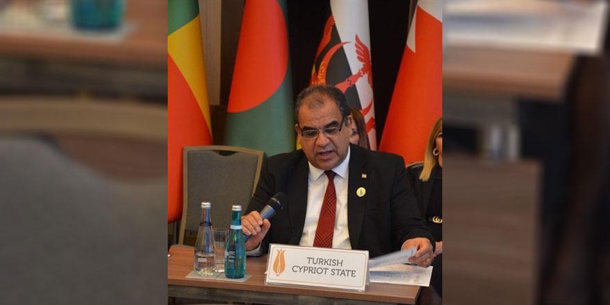 Bakan Sucuoğlu, İslam işbirliği teşkilatı  sosyal kalkınmadan sorumlu  1. bakanlar toplantısı'nda konuştu