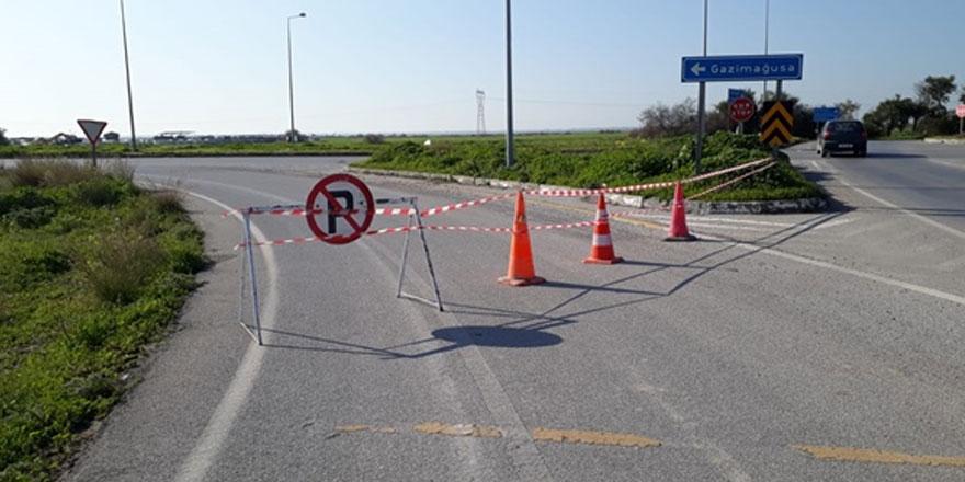 Güvercinlik kavşağından itibaren Gazimağusa gidiş yönü trafiğe kapatıldı