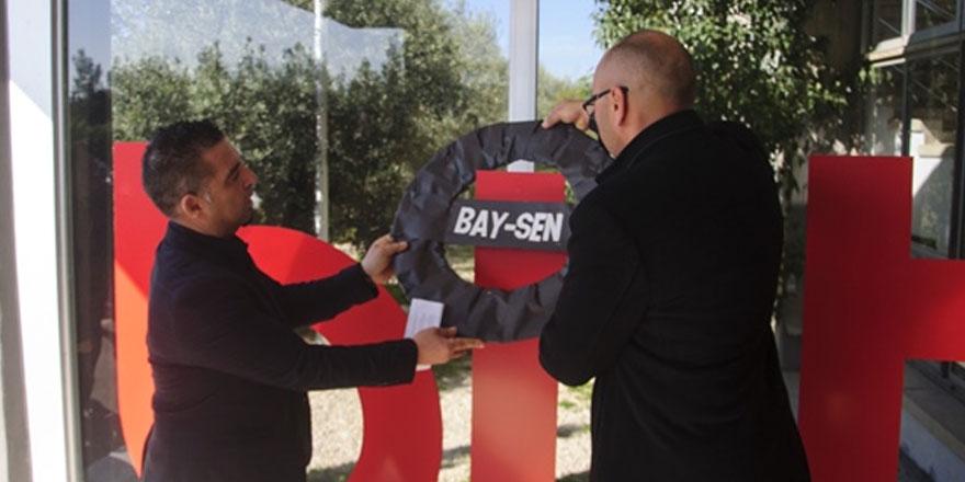 BAY-SEN BRTK'da toplu iş sözleşmesi imzalanmadığı gerekçesiyle eylem yaptı