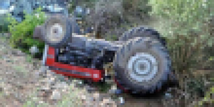 Ergazi'de traktör kazası!