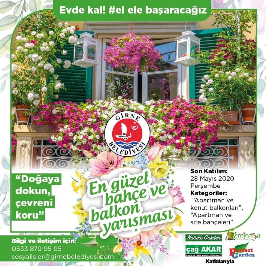 """""""En güzel bahçe, balkon yarışması"""" düzenleniyor"""
