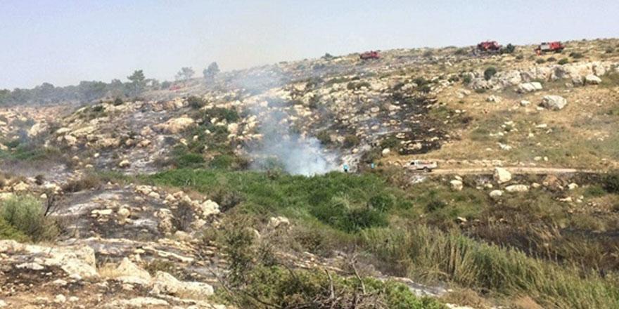 35 dönümlük makilik alan yandı