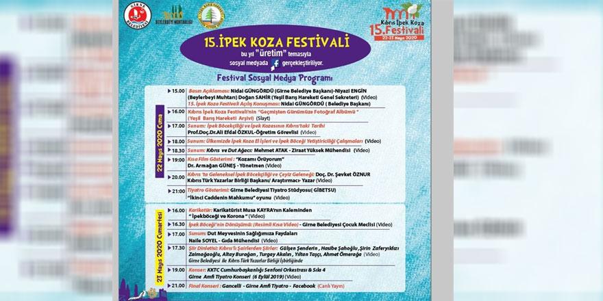 Festival, covid-19 salgını nedeniyle sosyal medya üzerinden yapılacak