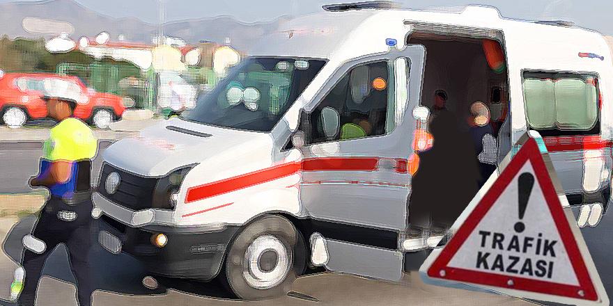Girne'de kaza: 1 yaralı