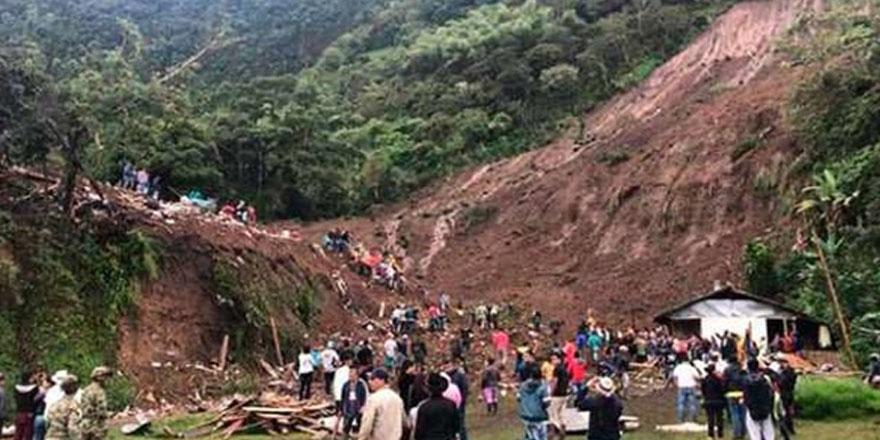 Kolombiya'da toprak kayması: 7 ölü, 12 yaralı